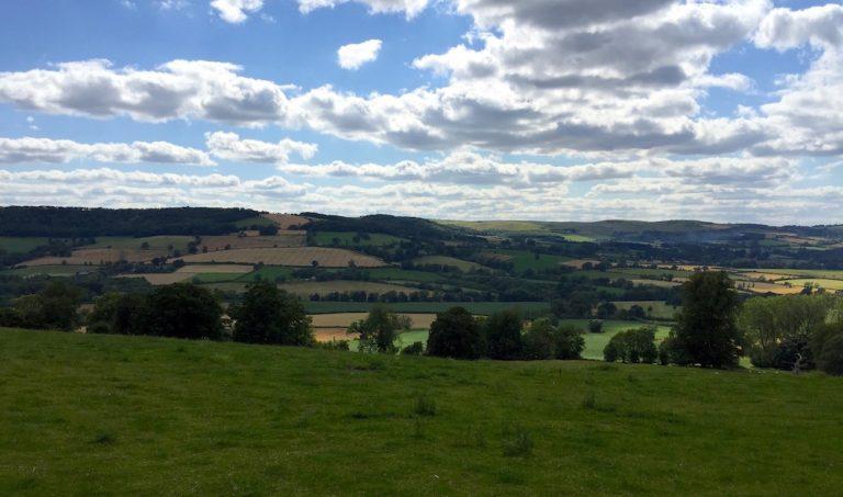 Hügelland hinter Winchcombe